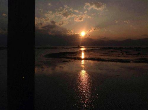 Heho Lake 日落的景色