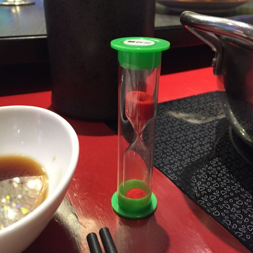 圖三:沙漏計時器