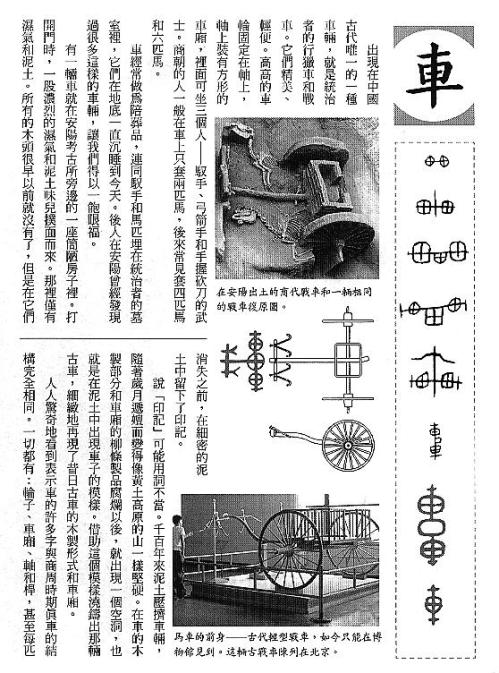 漢字的故事:<車輛,道路和船隻 ( 5-1 )>