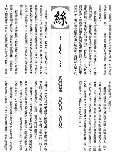 漢字的故事:<麻與絲 ( 8-3 )>
